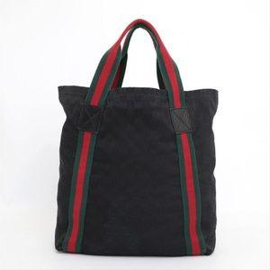 Gucci Sherry Monogram Web Shopper 230435 Tote